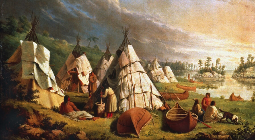 Native American Encampment on Lake Huron, Paul Kane (1810-1871)